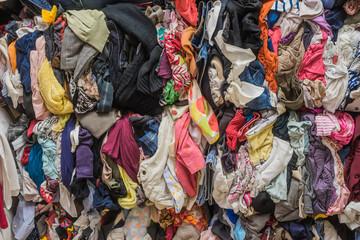 Hintergrund Altkleidersammlung - Background collection of old clothes