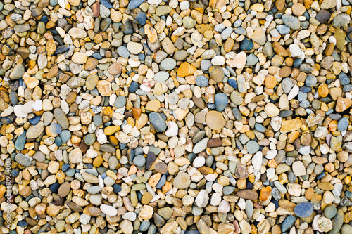 Abstract natural pebbles. background. stones for the garden ...