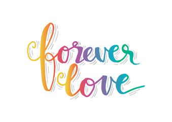 Forever love hand lettering