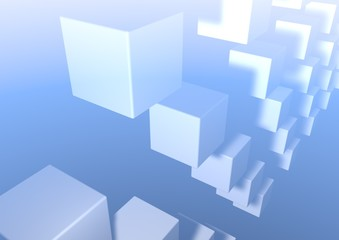 Abstract cubes background.  cube. square background