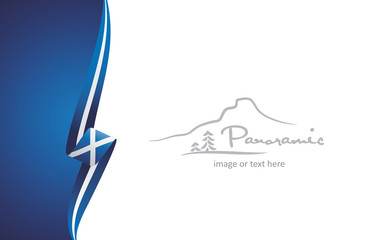Scotland abstract brochure cover poster background vector