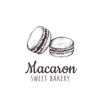 Macaron, macaroon, Macaron sketch hand drawing.