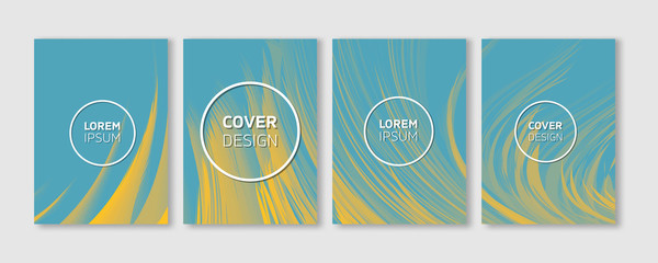 Minimal Vector Covers Design | Cool Vibrant Colors Feather Illustrations | Future Poster Templates
