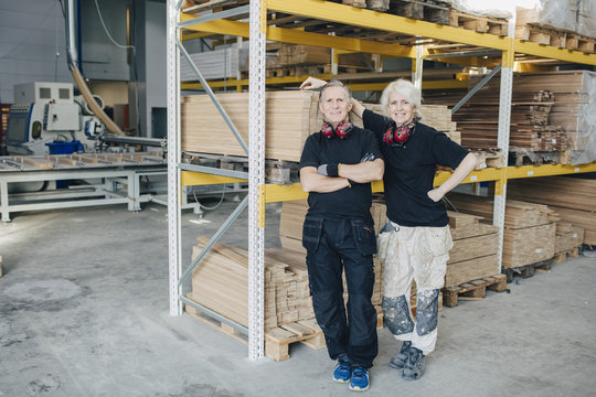 Portrait of sawmill workers