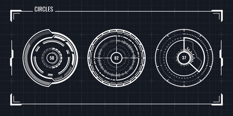 Futuristic Ui Circle Elements Set