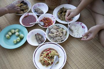 mix menu Isan Thai food