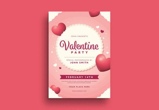 Valentine Party Flyer 1