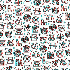 Healthy diet seamless pattern