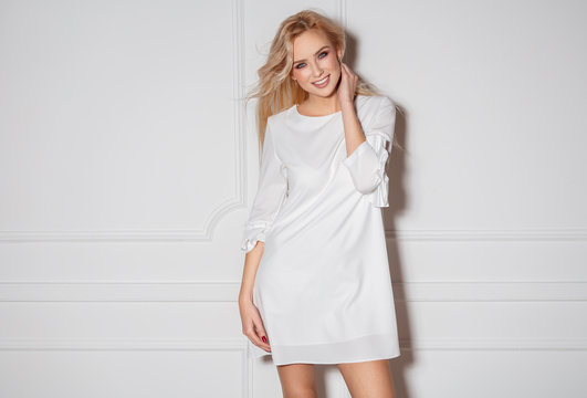 Portrait of beautiful blond model