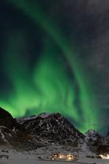 Northern lights on the Lofoten islands