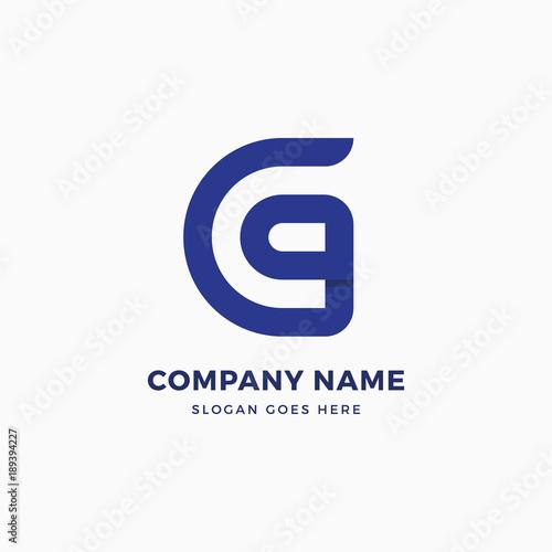 g letter logo design template fotolia com の ストック画像と