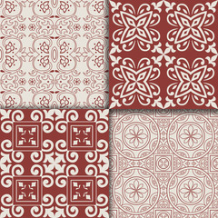 Collectiom seamless pattern arabic style. Can be used for gift wrap, background, backdrop, textile