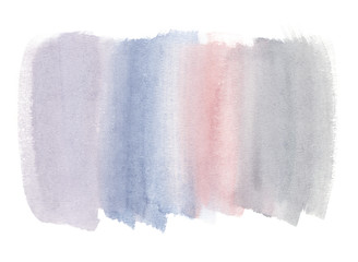 Tender pastel horizontal gradient backdrop painted in watercolor on clean white background