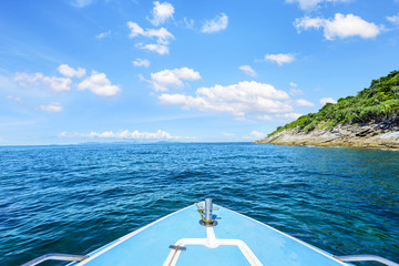 Landscape of Thailand. Sailing in National Park.