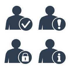 User icons set on white background.