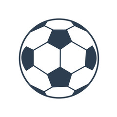 Soccer ball icon on white background.