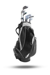 Golf bag isolated on white background