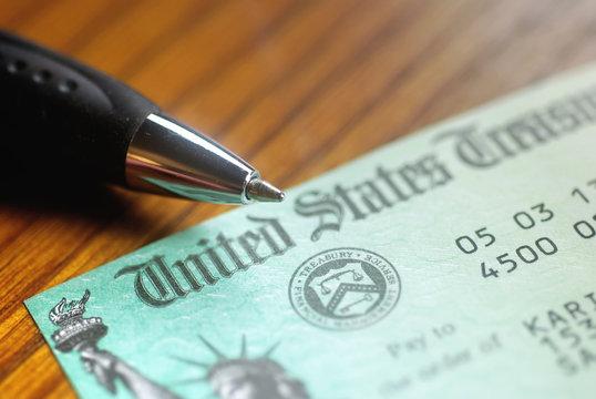 United States Treasury Check