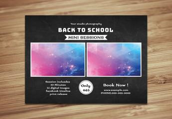 Photography Studio Back to School Mini Session Flyer 1