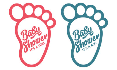 Baby Foot Baby Shower Invite Greeting Cards