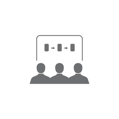 business presentation icon. Simple element illustration. Business icons universal for web and mobile
