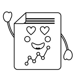 graph chart  heart eyes   kawaii icon image vector illustration design
