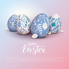Stylish Happy Easter template
