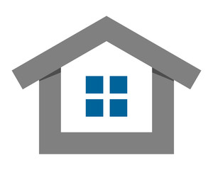 gray residence residential home house housing image vector icon logo