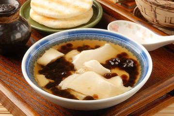 Chinese dessert, Tofu pudding with tapioca ball
