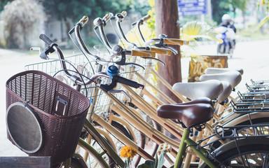 Vintage bicycle Rental.