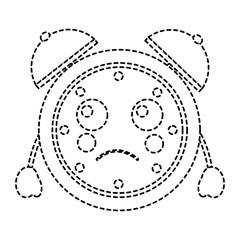kawaii cartoon clock alarm character vector illustration sticker design