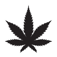 Weed Marijuana cannabis leaf vector icon logo illustration
