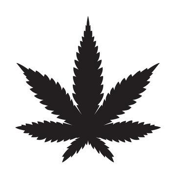 Weed Marijuana cannabis leaf vector icon logo illustration