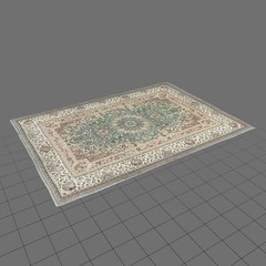 Worn area rug