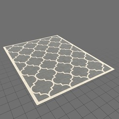 Grey and white pattern area rug