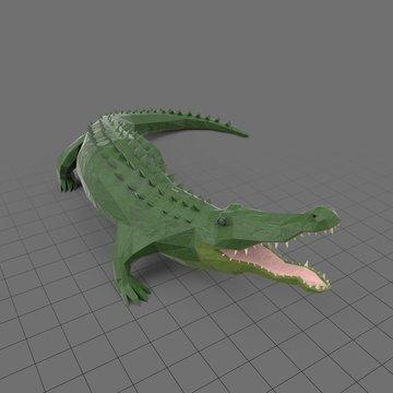Stylized alligator standing