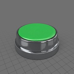 Flat green button
