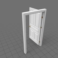 Open door with lever doorknob