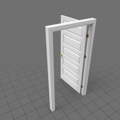Open door with round doorknob