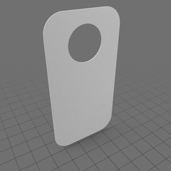 Curved white door hanger