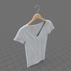Hanging v-neck shirt without tag (womens)