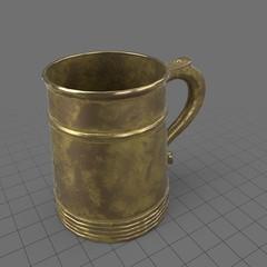 Vintage metal beer mug