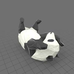 Stylized panda rolling around