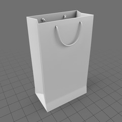Tall shopping bag with handles