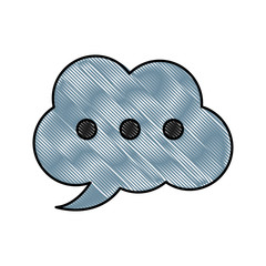 Chat bubble symbol icon vector illustration graphic design