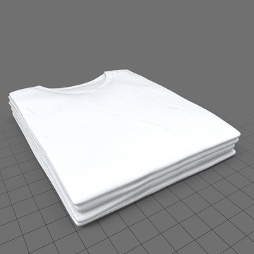 Stack of v-neck shirts without tags (mens)
