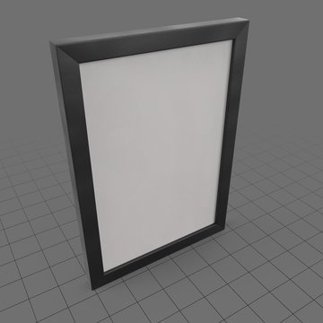 Simple vertical wall frame