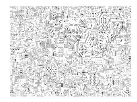 seamless circuit pattern or circuit board background vector illustration