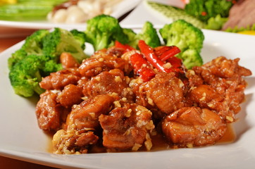 General Tso's chicken  - A Popular Taiwan food Wall mural