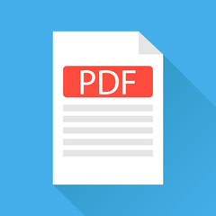 PDF file, a pdf file icon. White sheet with a folded edge.